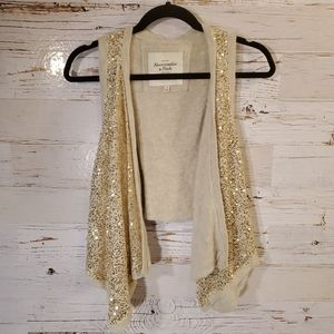 Abercrombie & Fitch sequin sweater vest